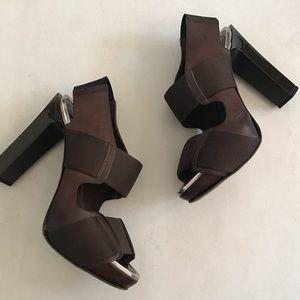 Marni Leather Slingback Platform Sandals